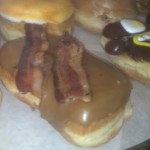 maple bacon doughnut at voodoo doughnut in portland oregon