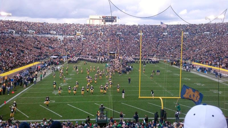 Notre Dame Stadium for 2012 BYU Game