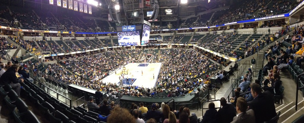 The Indianapolis Pacers take on the Detroit Pistons at Bankers Life Fieldhouse